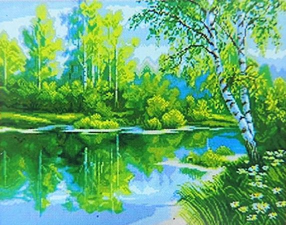 Набор для творчества со стразами Тихая речка 47 60 см  f7766e181471d