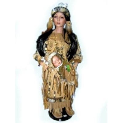 Кукла фарфоровая индианка 28