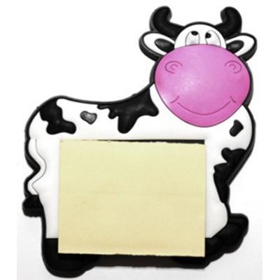 Магнит-блокнот Корова (белый)