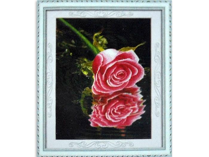 стразами 5D Розовая роза